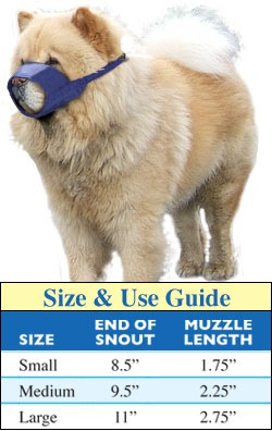 Chow & Short-Snouted Quick Muzzles® size chart