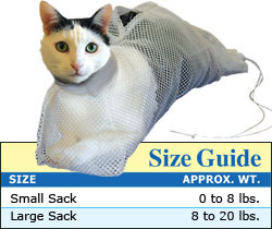 The Bath Sack™ size chart